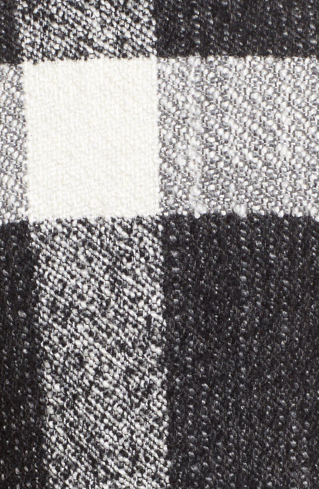 Alternate Image 5  - GUESS Shawl Collar Plaid Coat