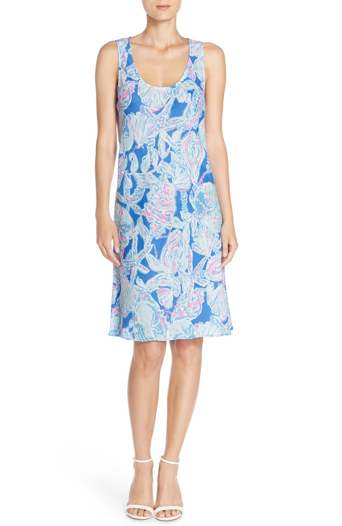 Alternate Image 4  - Lilly Pulitzer® 'Patterson' Print Linen Sheath Dress