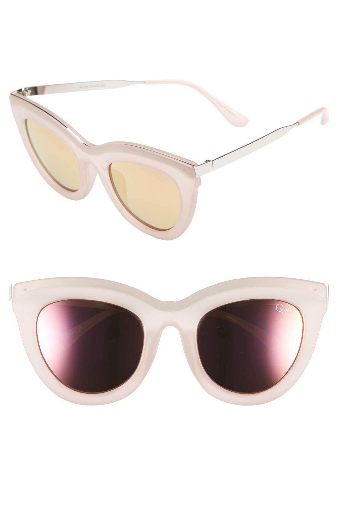 Alternate Image 1 Selected - Quay Australia 'Eclipse' 49mm Cat Eye Sunglasses