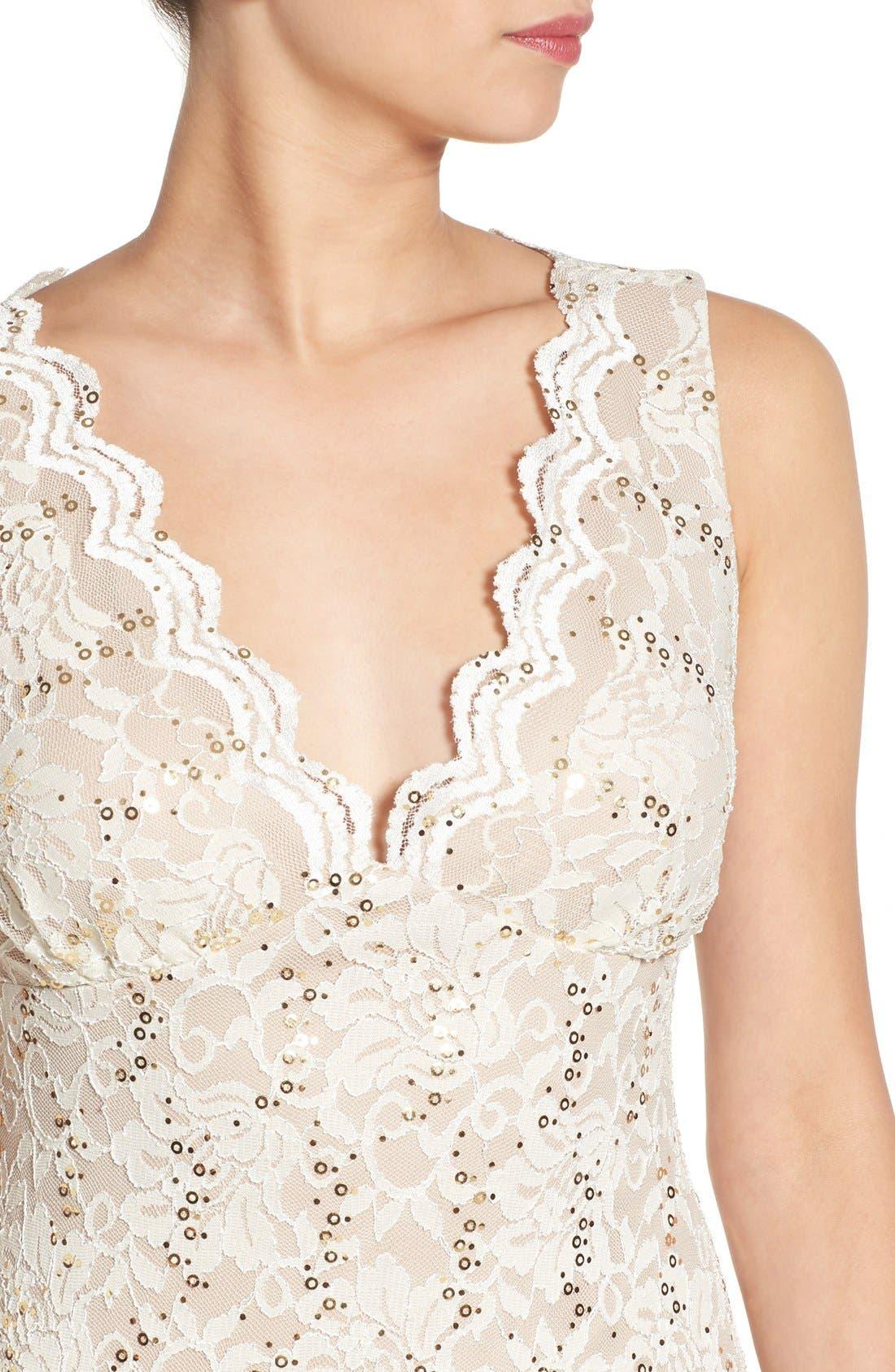 Alternate Image 4  - Morgan & Co. Open Back Lace Dress