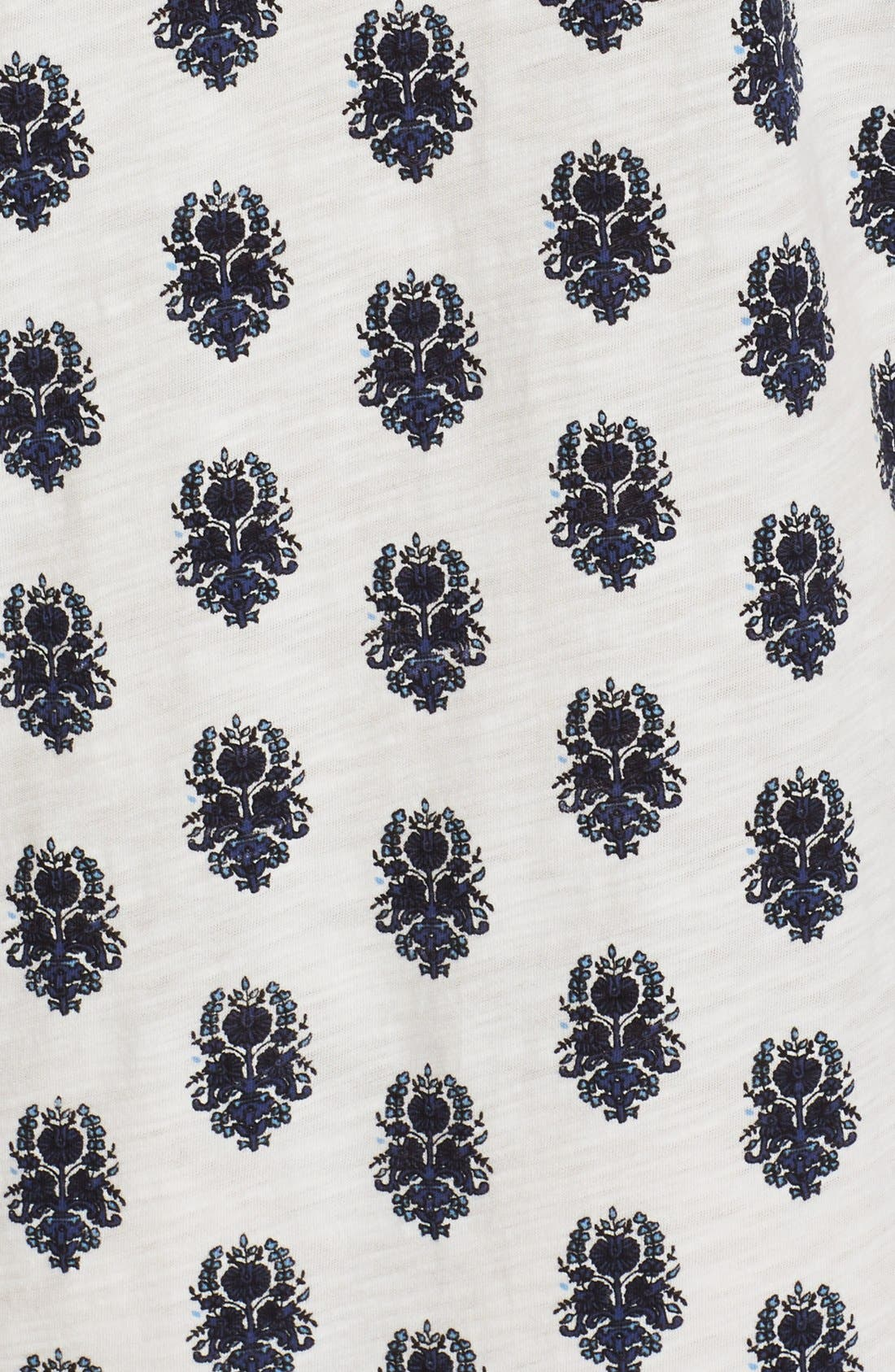 Alternate Image 5  - Soft Joie 'Gadhi' Border Print Split Neck Shift Dress