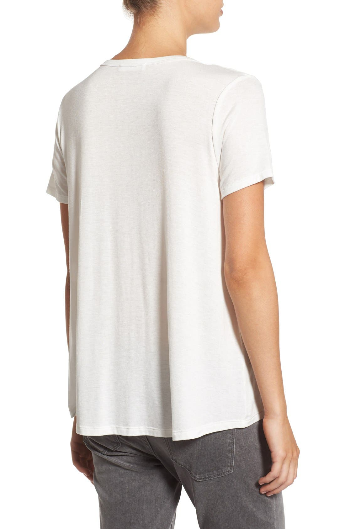 Alternate Image 2  - Lush Deep-V Neck Tee