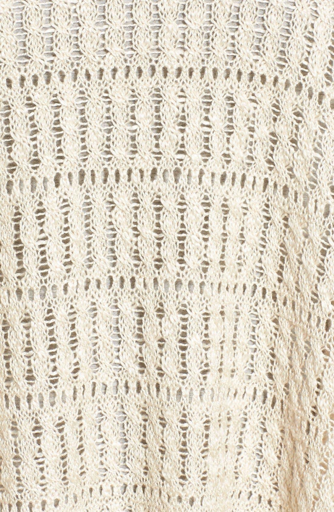 Alternate Image 5  - Wit & Wisdom Fringed Split Back Open Weave Sweater (Nordstrom Exclusive)
