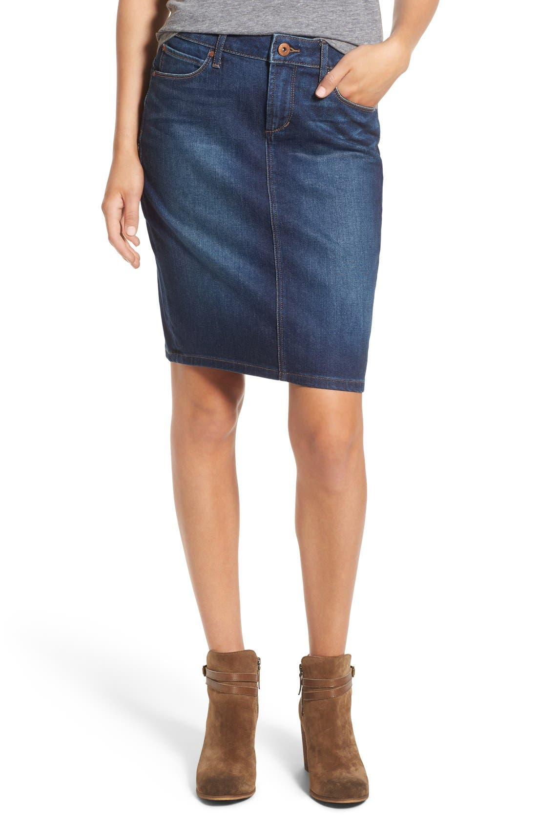 Main Image - Articles of Society 'Penny' Denim Pencil Skirt (Del Ray)