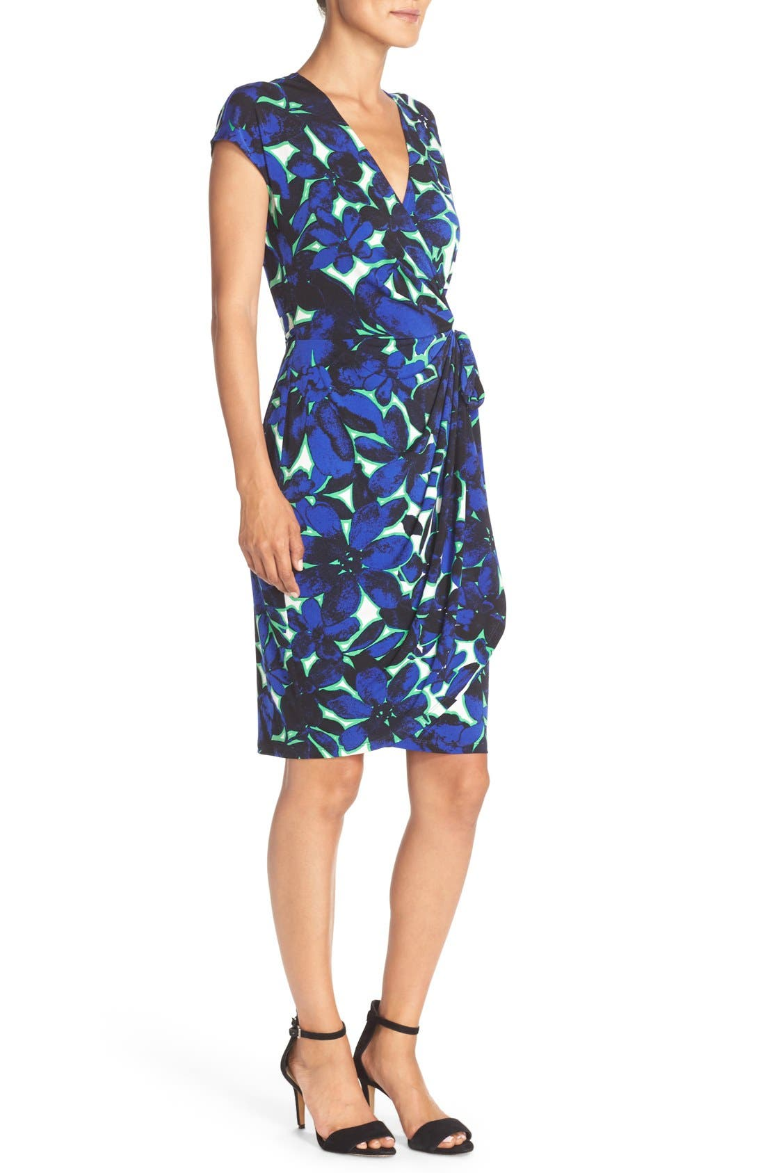 Alternate Image 3  - Maggy London Print Wrap Dress (Regular & Petite)