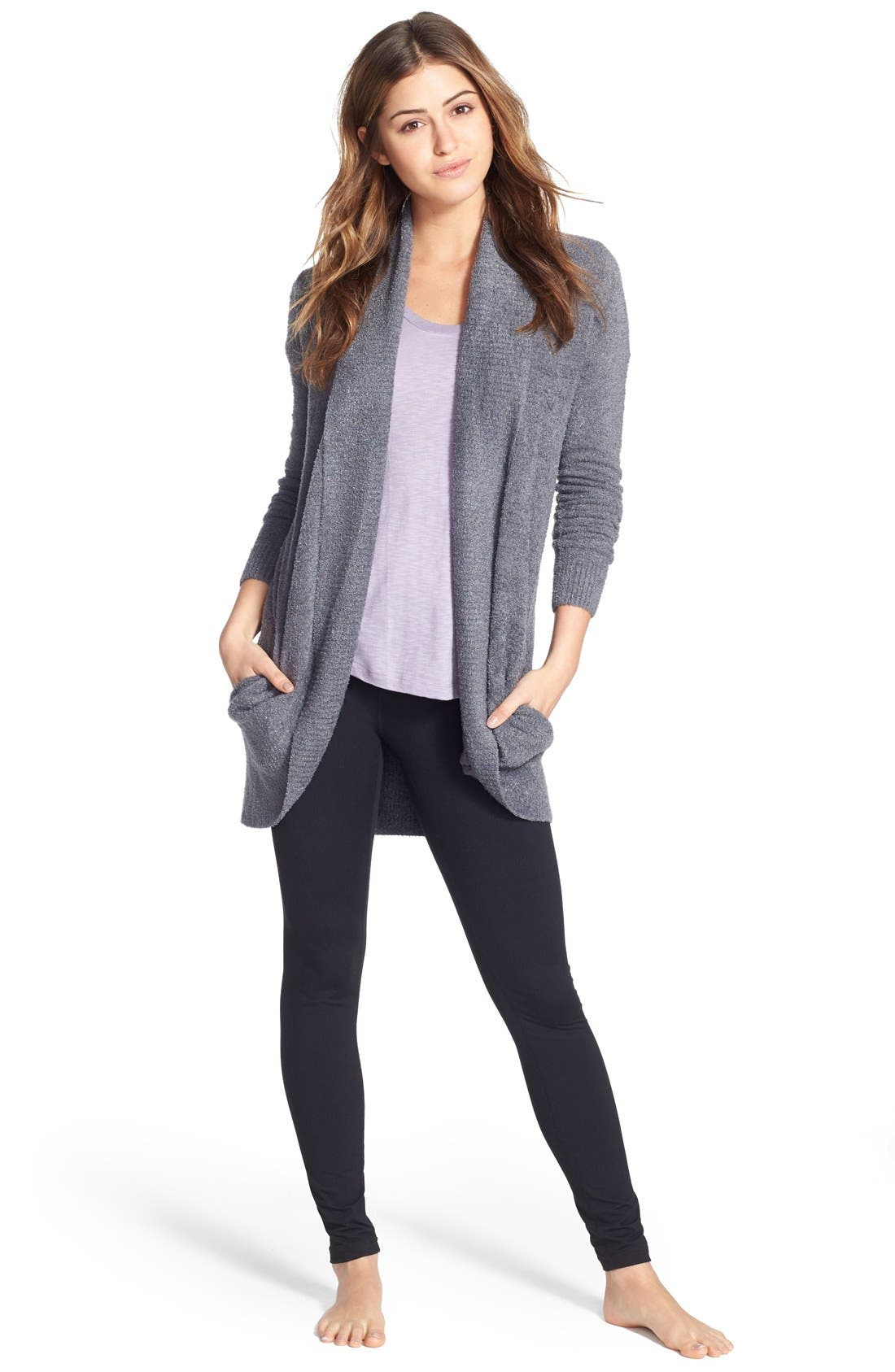 Alternate Image 6  - Barefoot Dreams® CozyChic Lite® Circle Cardigan