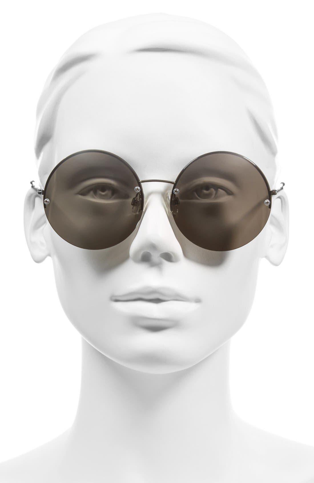 Alternate Image 2  - BP. 55mm Rimless Mirrored Round Sunglasses