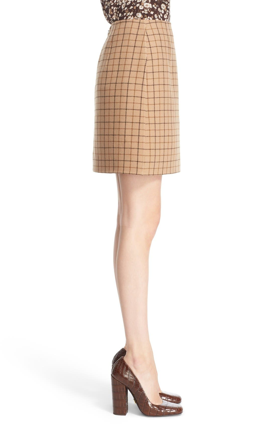 Alternate Image 5  - Michael Kors Plaid Wool A-Line Skirt