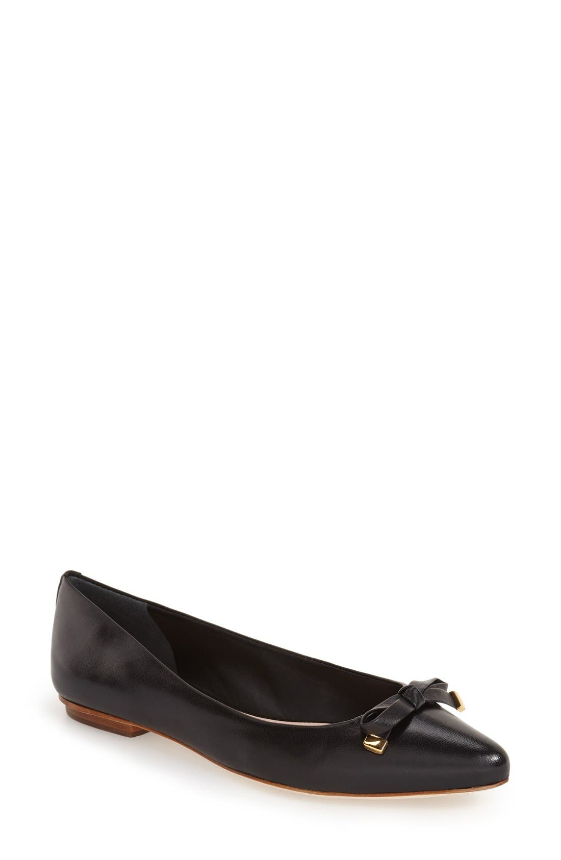 Alternate Image 1 Selected - kate spade new york 'emma' pointy toe flat (Women)