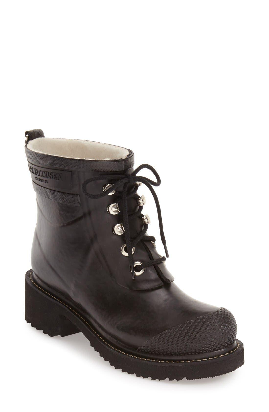 ILSE JACOBSEN Waterproof Lace-Up Short Snow/Rain Boot