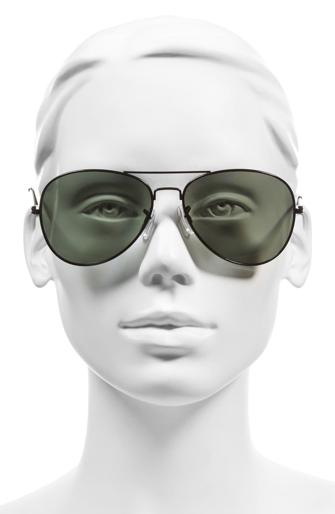Alternate Image 2  - BP. 45mm Matte Aviator Sunglasses