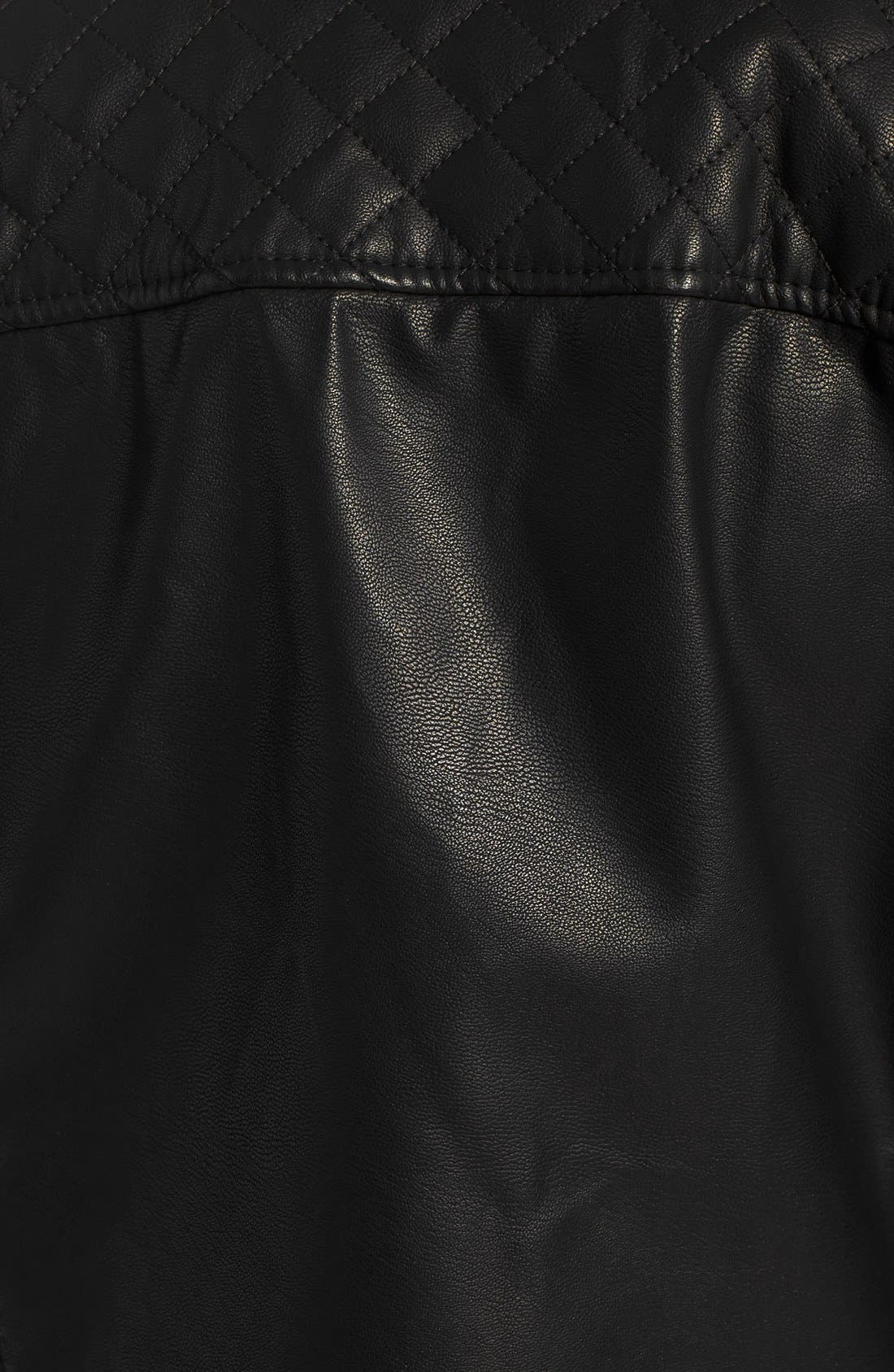 Alternate Image 5  - Topshop Faux Leather Biker Jacket