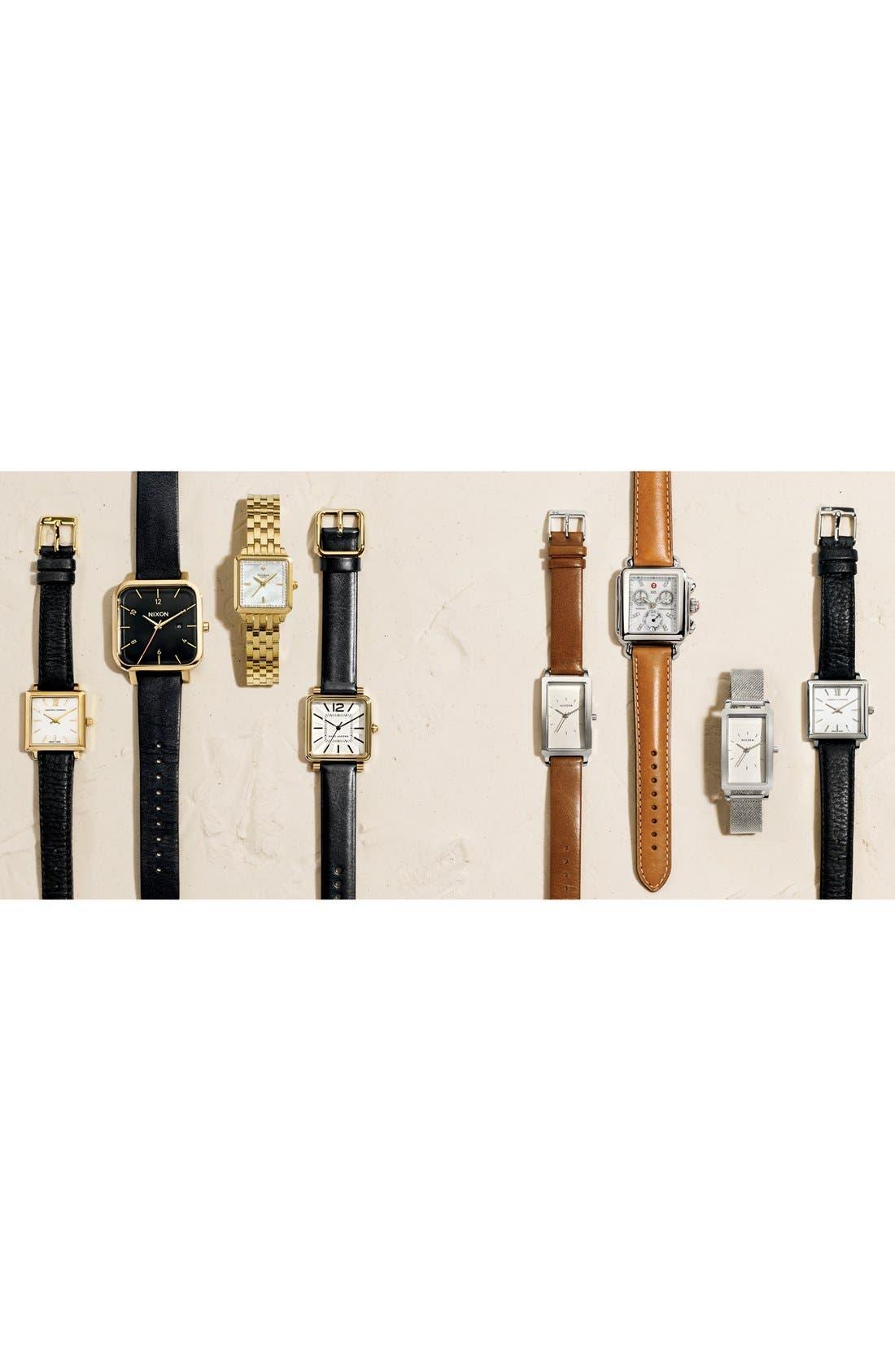 Alternate Image 5  - Skagen 'Hagen' Leather Strap Watch, 22mm x 43mm