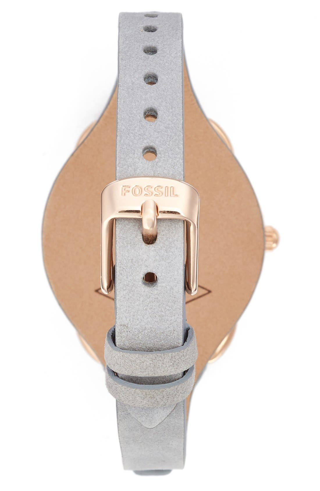 Alternate Image 2  - Fossil 'Tailor' Multifunction Leather Strap Watch, 35mm