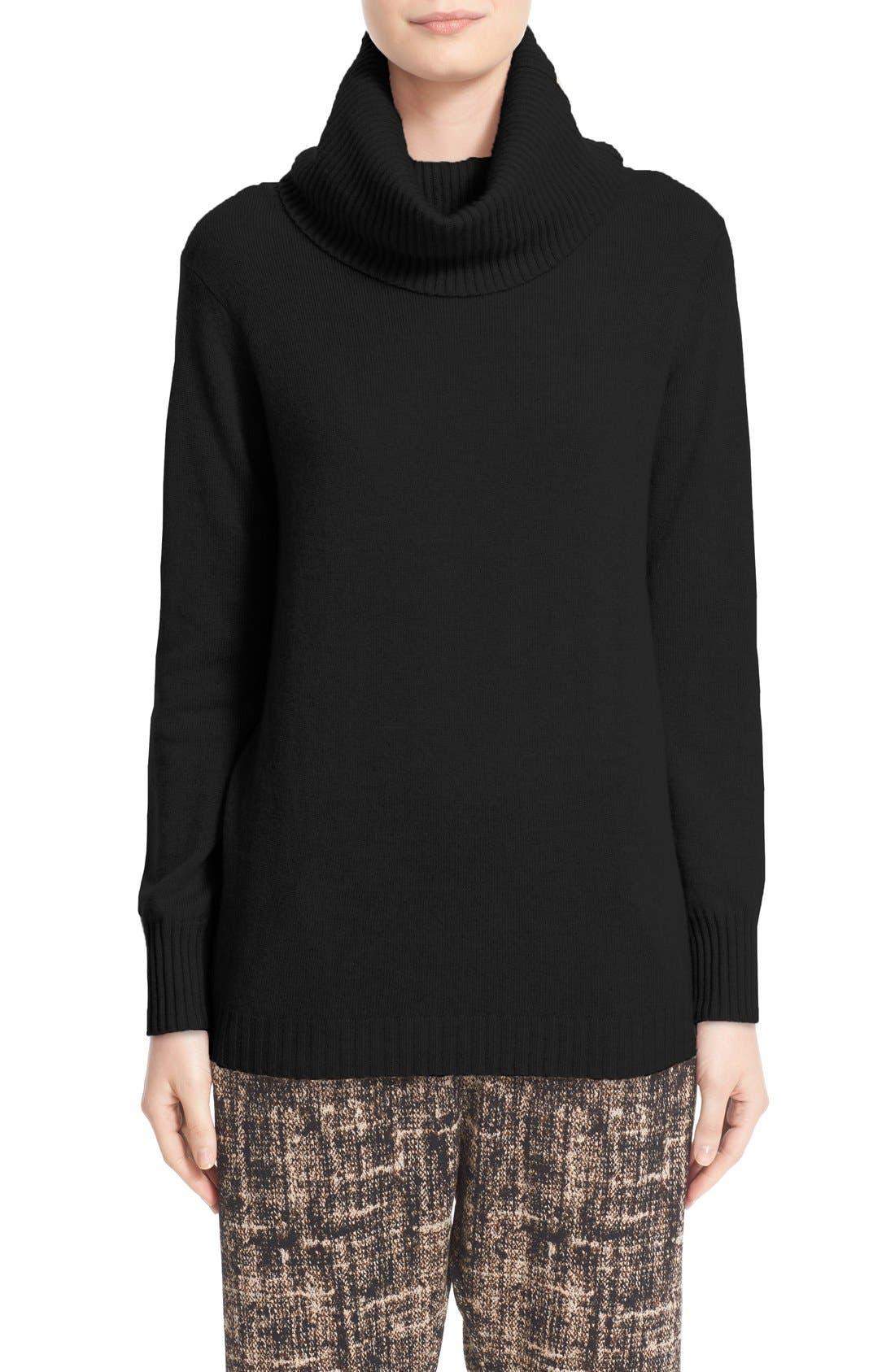 Zero + Maria Cornejo 'Asha' Cashmere & Wool Turtleneck Sweater