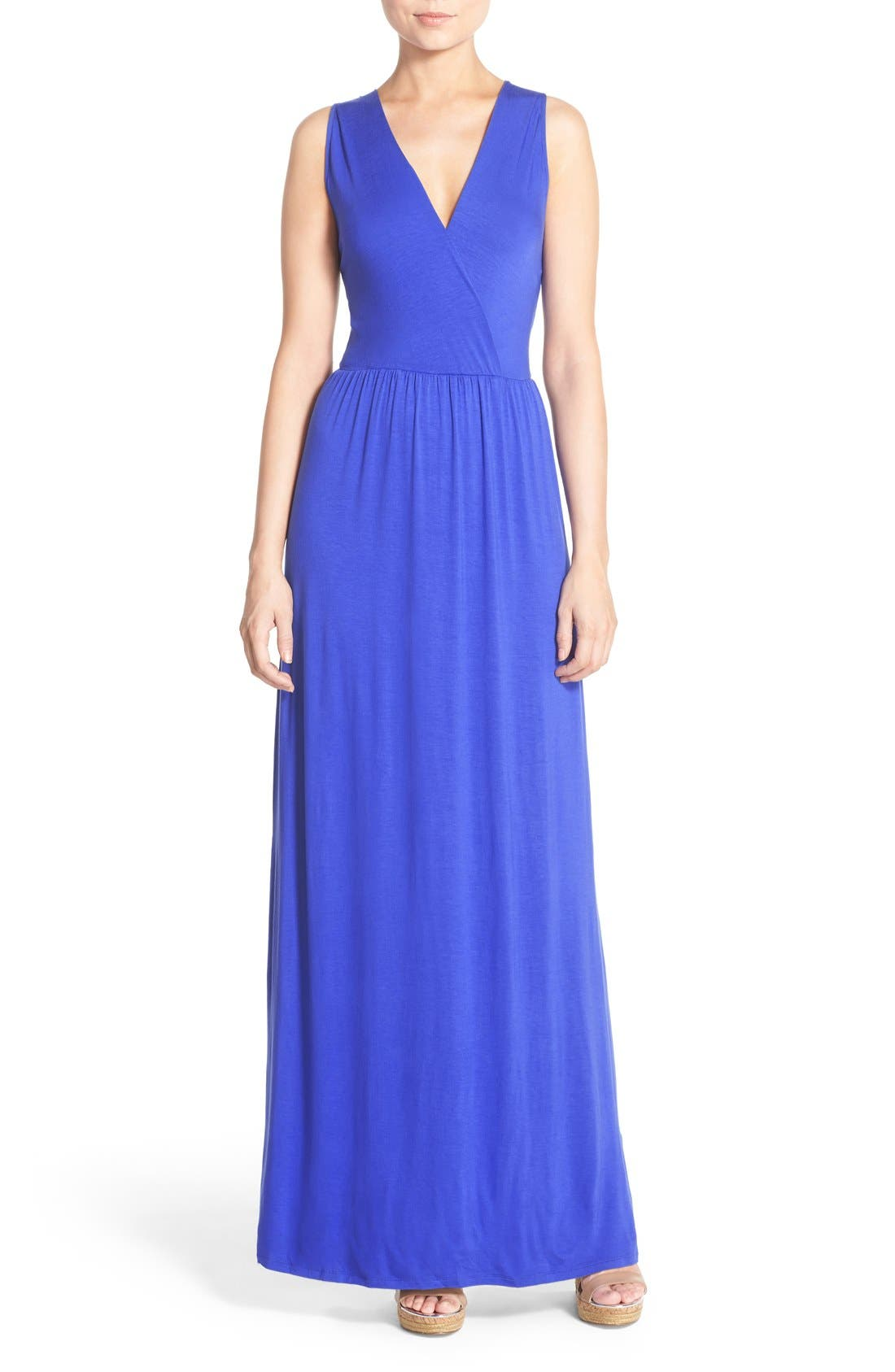 Main Image - Felicity & Coco Jersey Strappy Back Maxi Dress (Regular & Petite) (Nordstrom Exclusive)