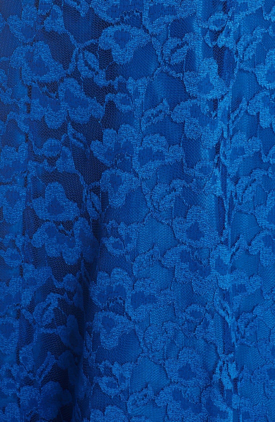 Alternate Image 5  - Chetta B Peplum Lace Mermaid Gown
