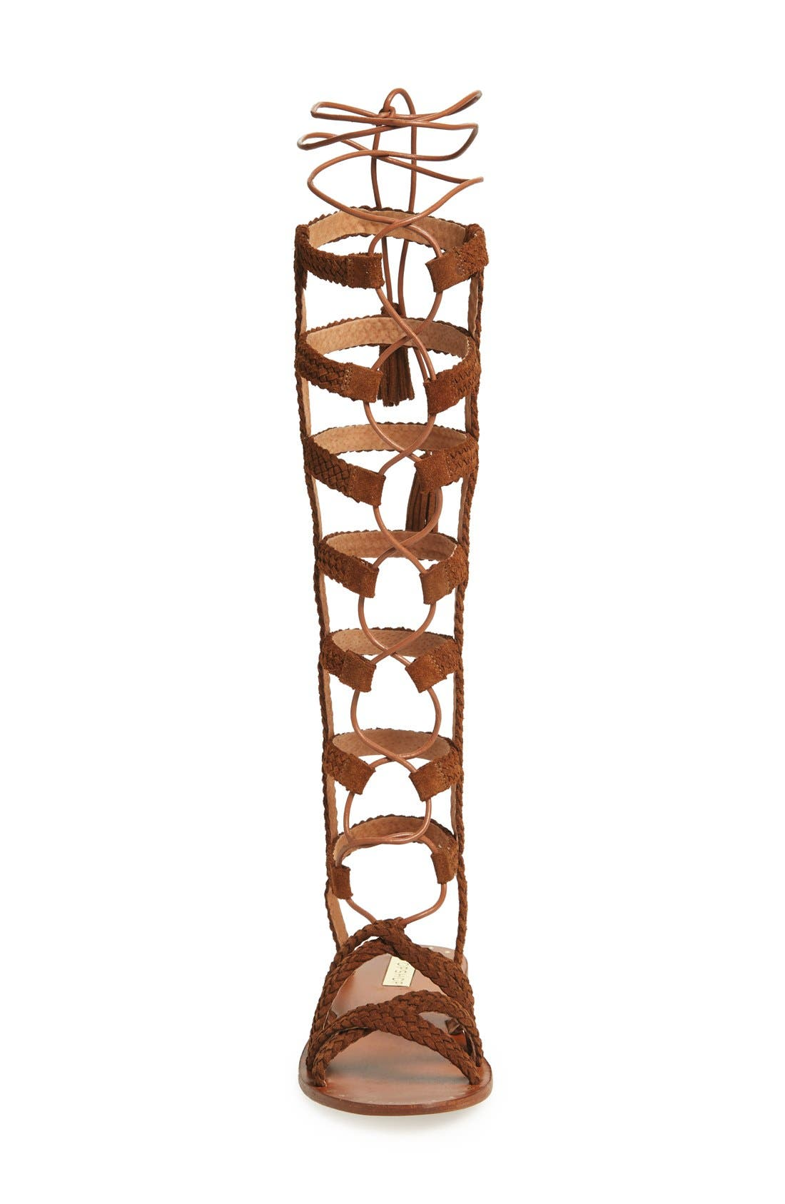 Alternate Image 3  - Topshop 'Faraday' Lace-Up Gladiator Sandal (Women)