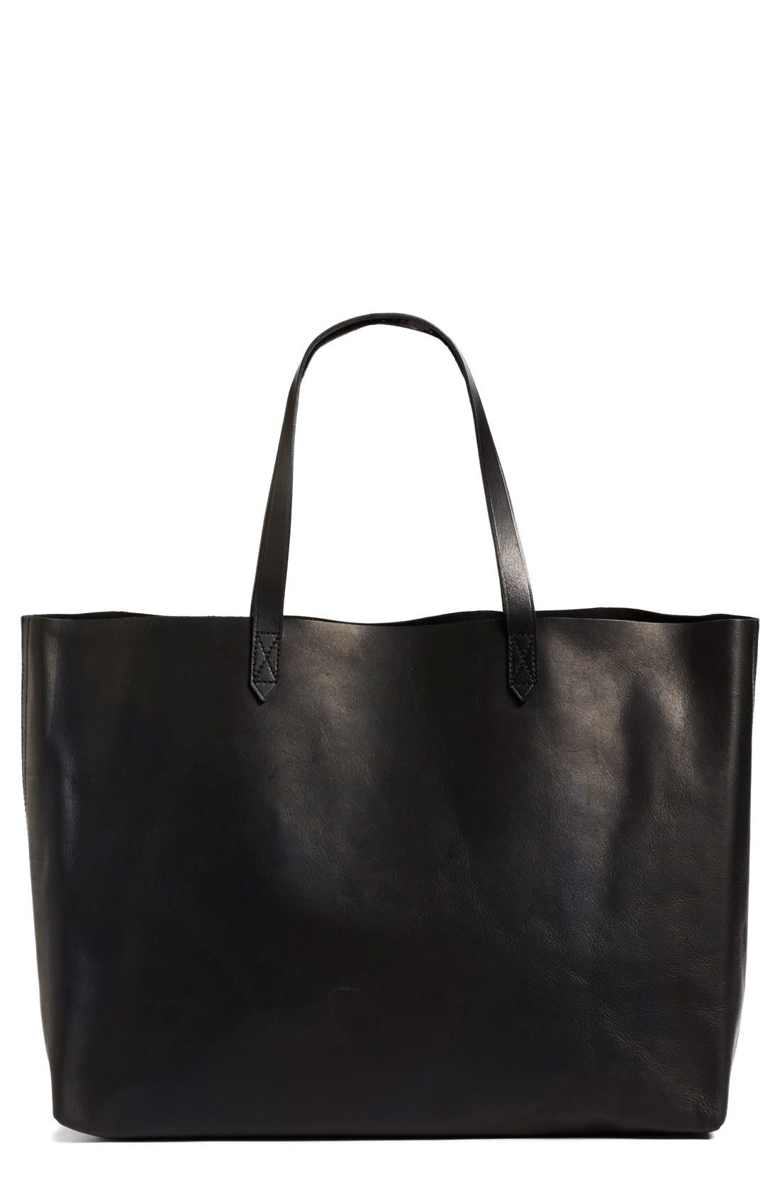 Alternate Image 1 Selected - Madewell 'The East-West Transport' Leather Tote