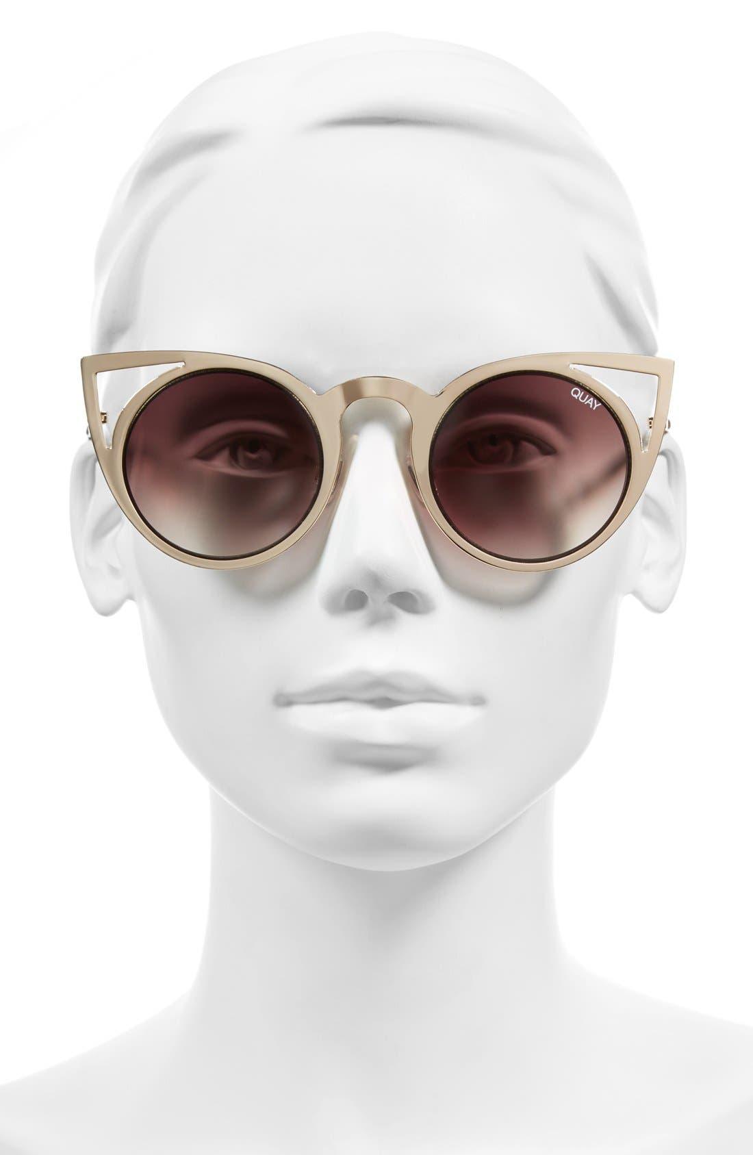 Alternate Image 2  - Quay Australia 'Invader' 50mm Cat Eye Sunglasses