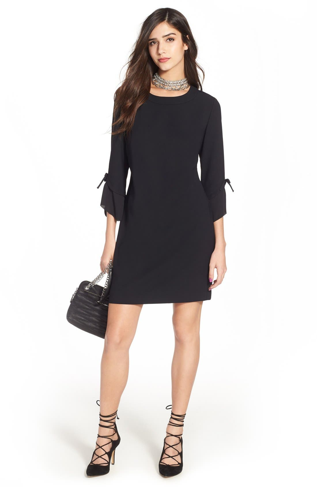 Alternate Image 2  - Chelsea28 Ruffle Sleeve Sheath Dress