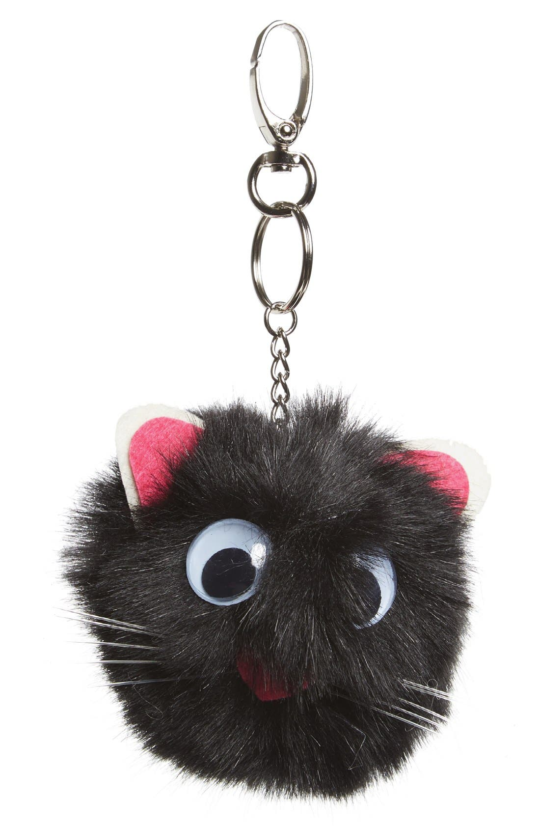 Main Image - Topshop Fluffy Mouse Key Ring