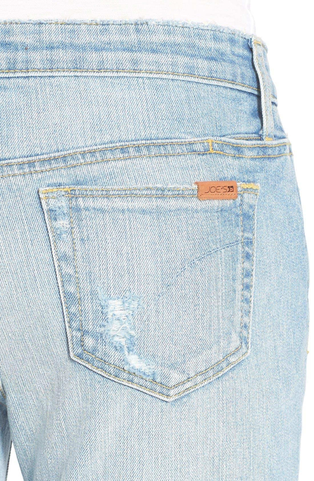 Alternate Image 4  - Joe's 'Icon' Destroyed Ankle Jeans (Margie)