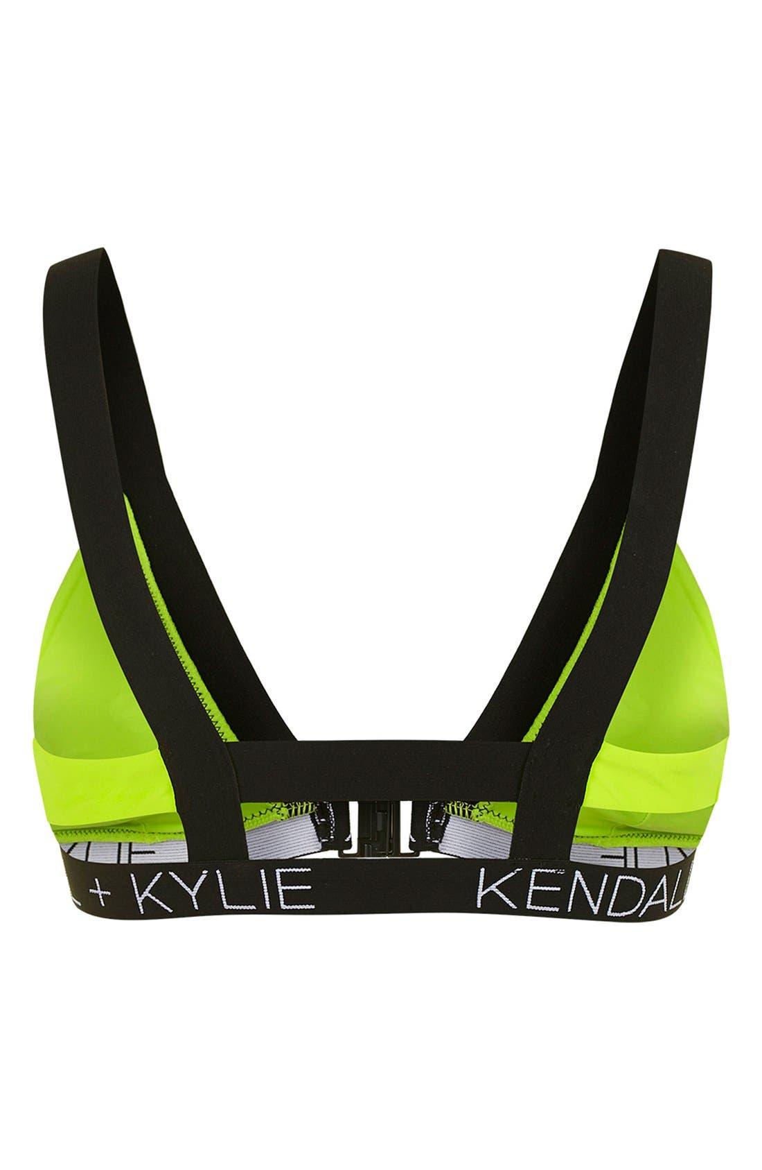 Alternate Image 2  - KENDALL + KYLIE at Topshop Contrast Trim Bikini Top
