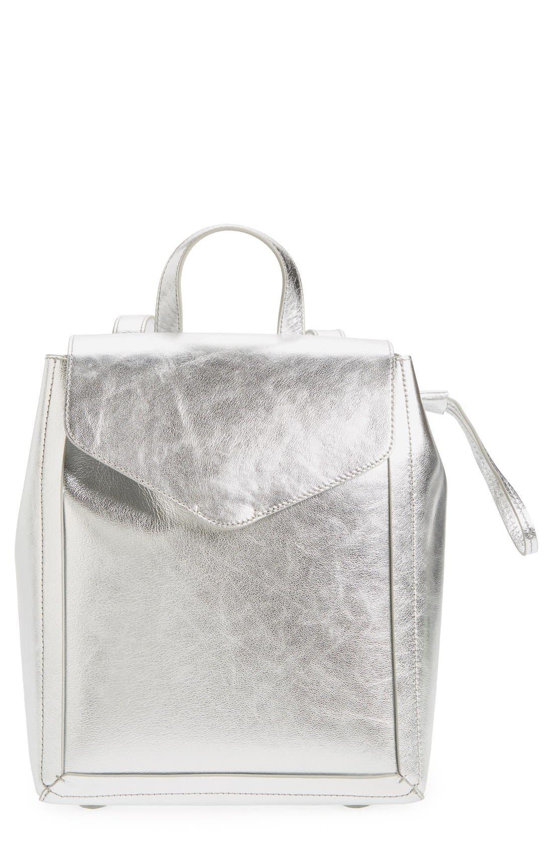 Alternate Image 1 Selected - Loeffler Randall Mini Metallic Leather Backpack