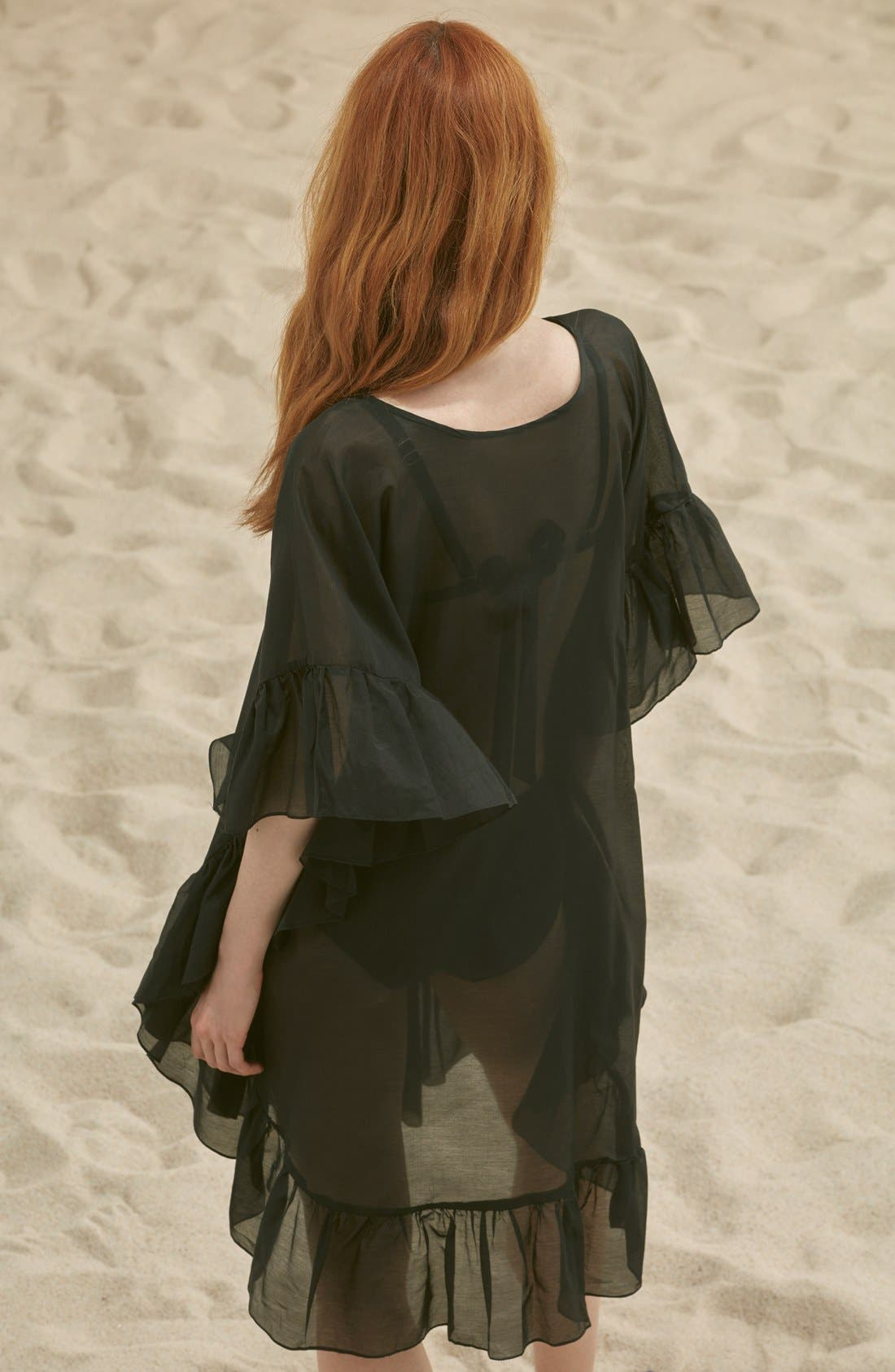 Alternate Image 2  - Soler 'Yasmine' Frill Tie Cover-Up Caftan
