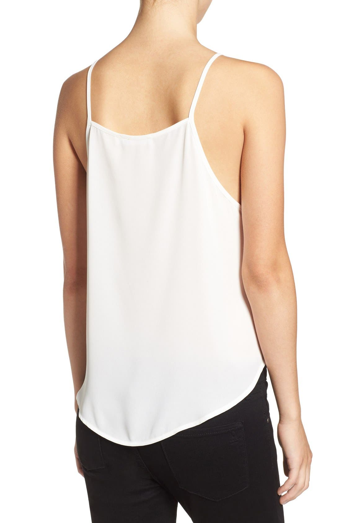 Alternate Image 2  - Lush High Neck Woven Tank