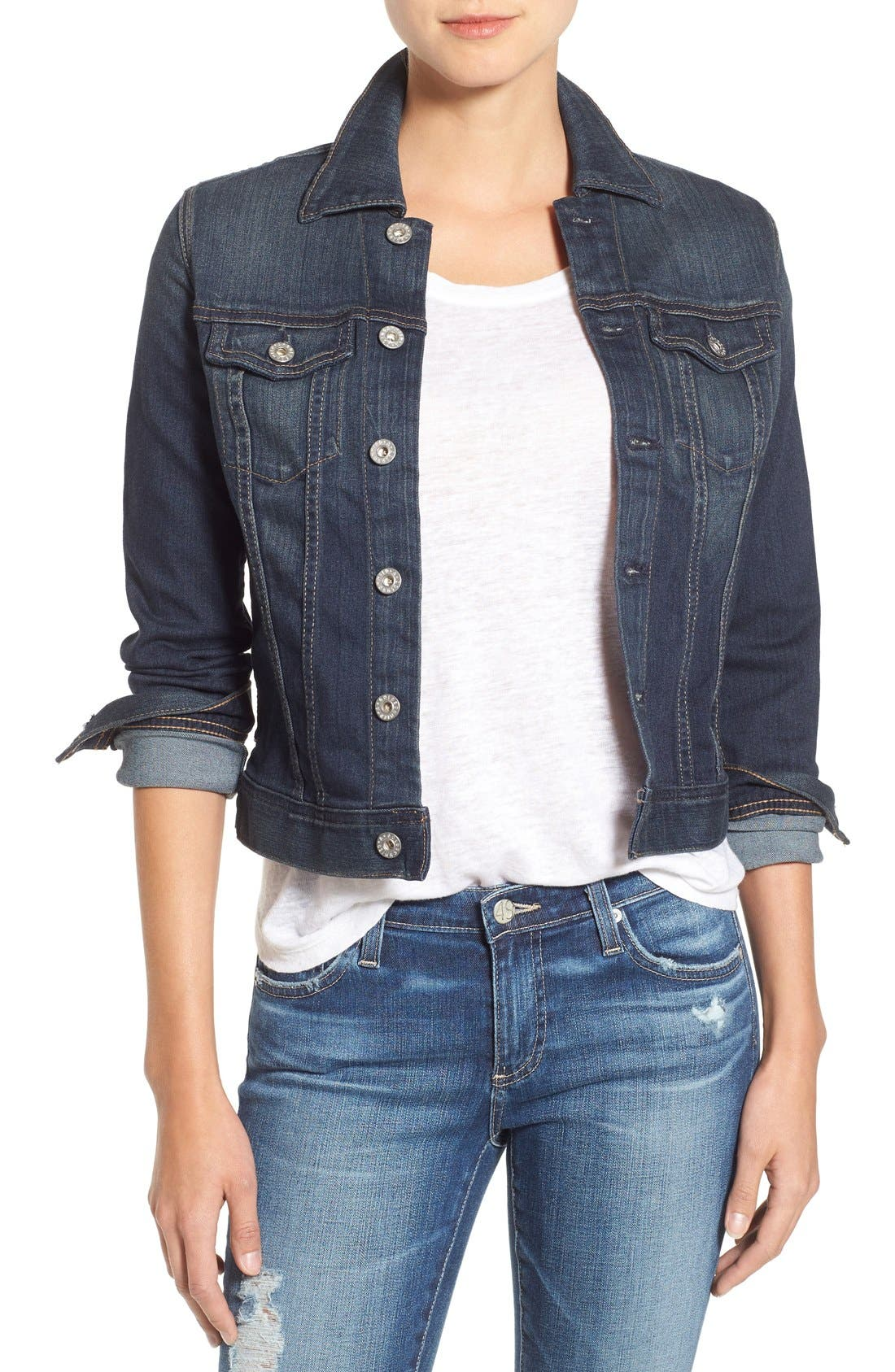 Alternate Image 1 Selected - AG 'Robyn' Denim Jacket (Torrent)