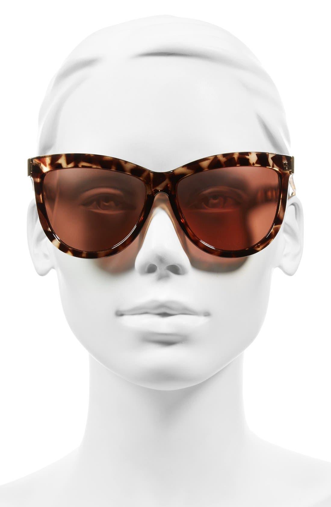 Alternate Image 2  - BP. 58mm Mirror Cat Eye Sunglasses