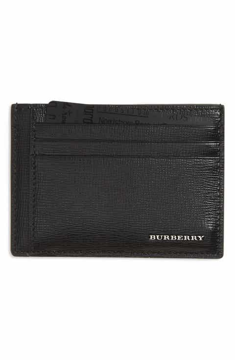 Burberry 'Chase' Money Clip Card Case