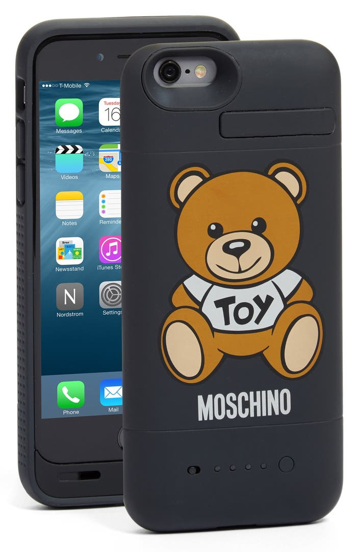 moschino 39 bear 39 iphone 6 6s charging case nordstrom. Black Bedroom Furniture Sets. Home Design Ideas