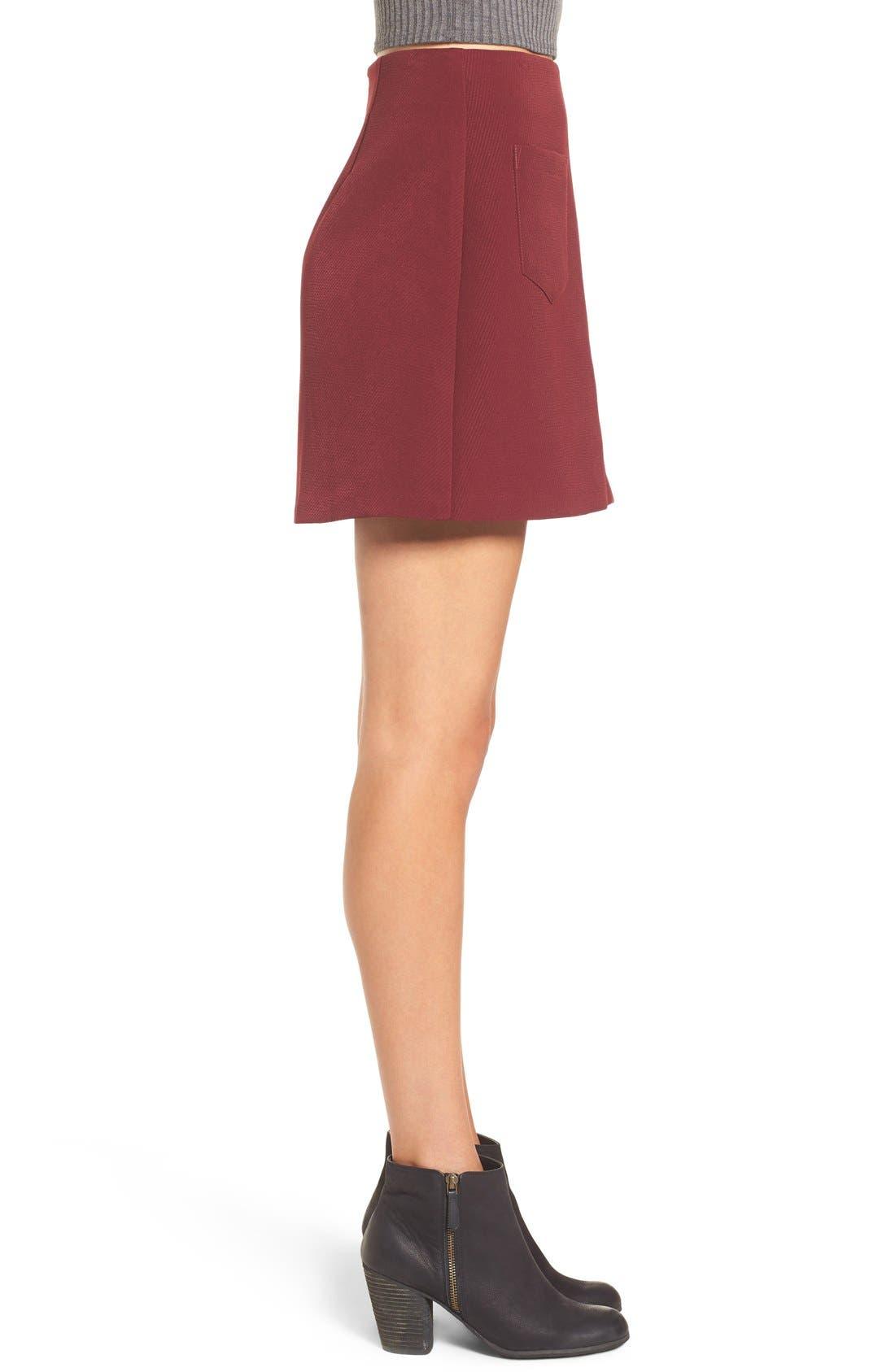 Alternate Image 3  - Lush A-Line Miniskirt
