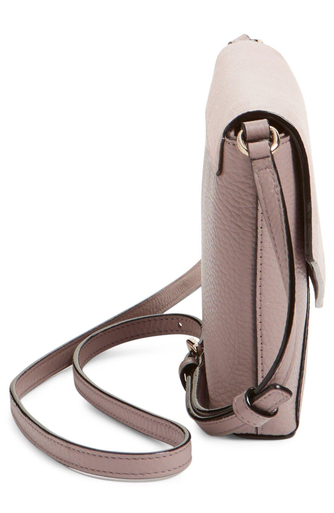 Alternate Image 5  - kate spade new york 'spencer court - large monday' suede & leather envelope crossbody bag (Nordstrom Exclusive)