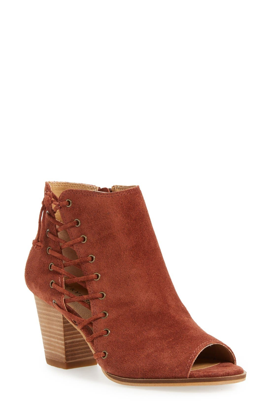 LUCKY BRAND 'Hartlee' Open Toe Bootie