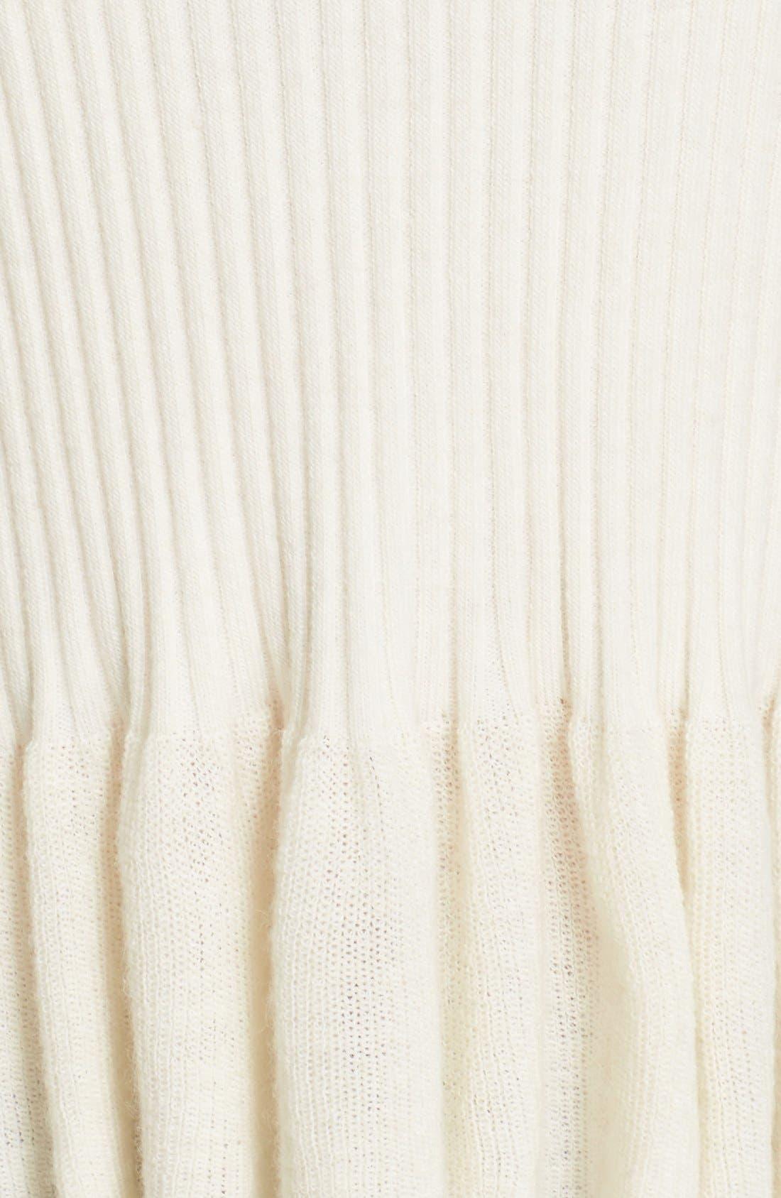 Alternate Image 5  - Rebecca Taylor Rib Knit Peplum Pullover