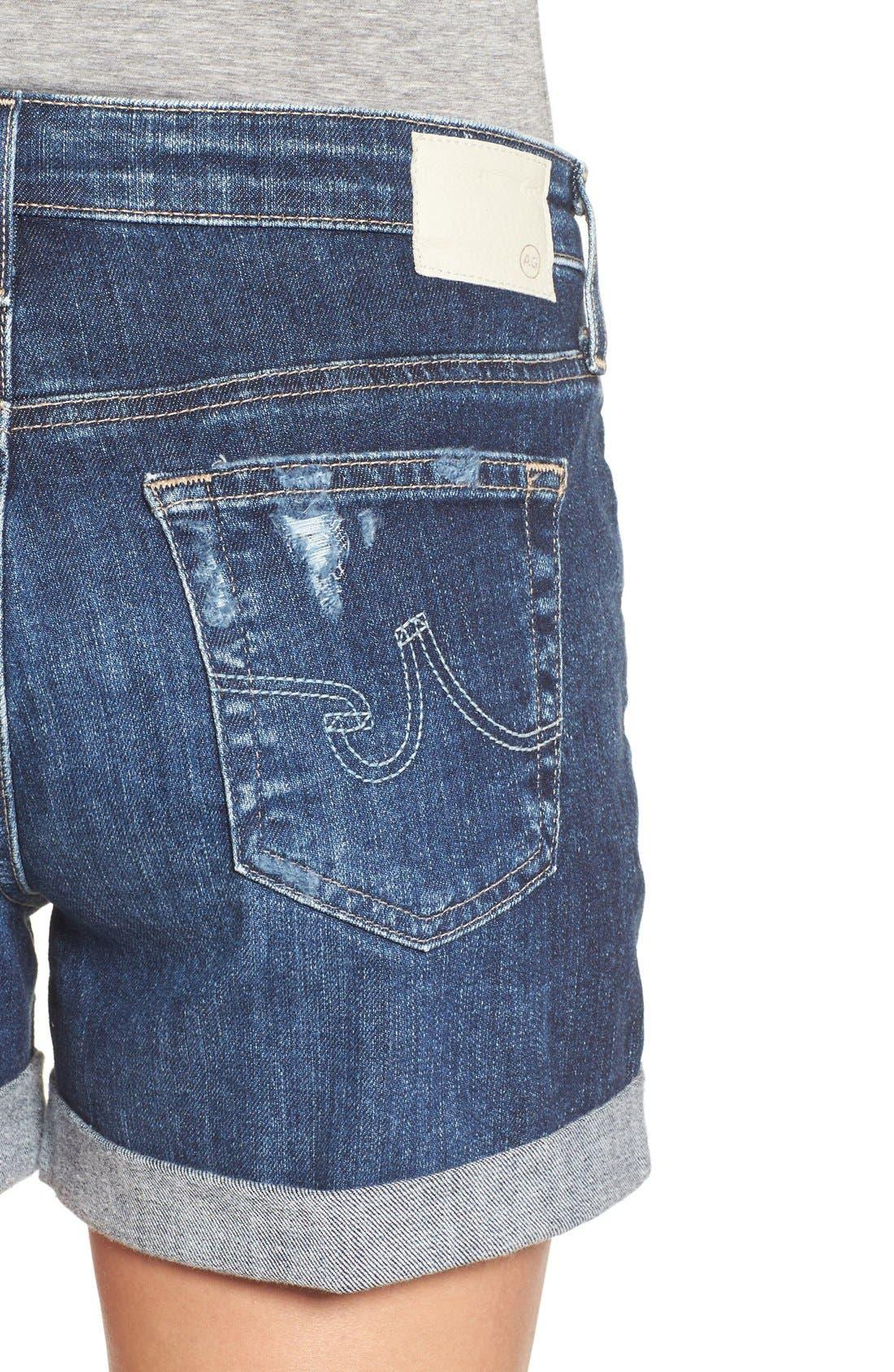 Alternate Image 4  - AG 'Hailey' Denim Shorts (11 Years Sail Away)