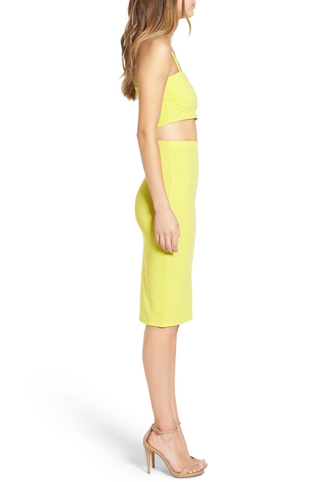 Alternate Image 5  - Missguided Ribbed Midi Skirt