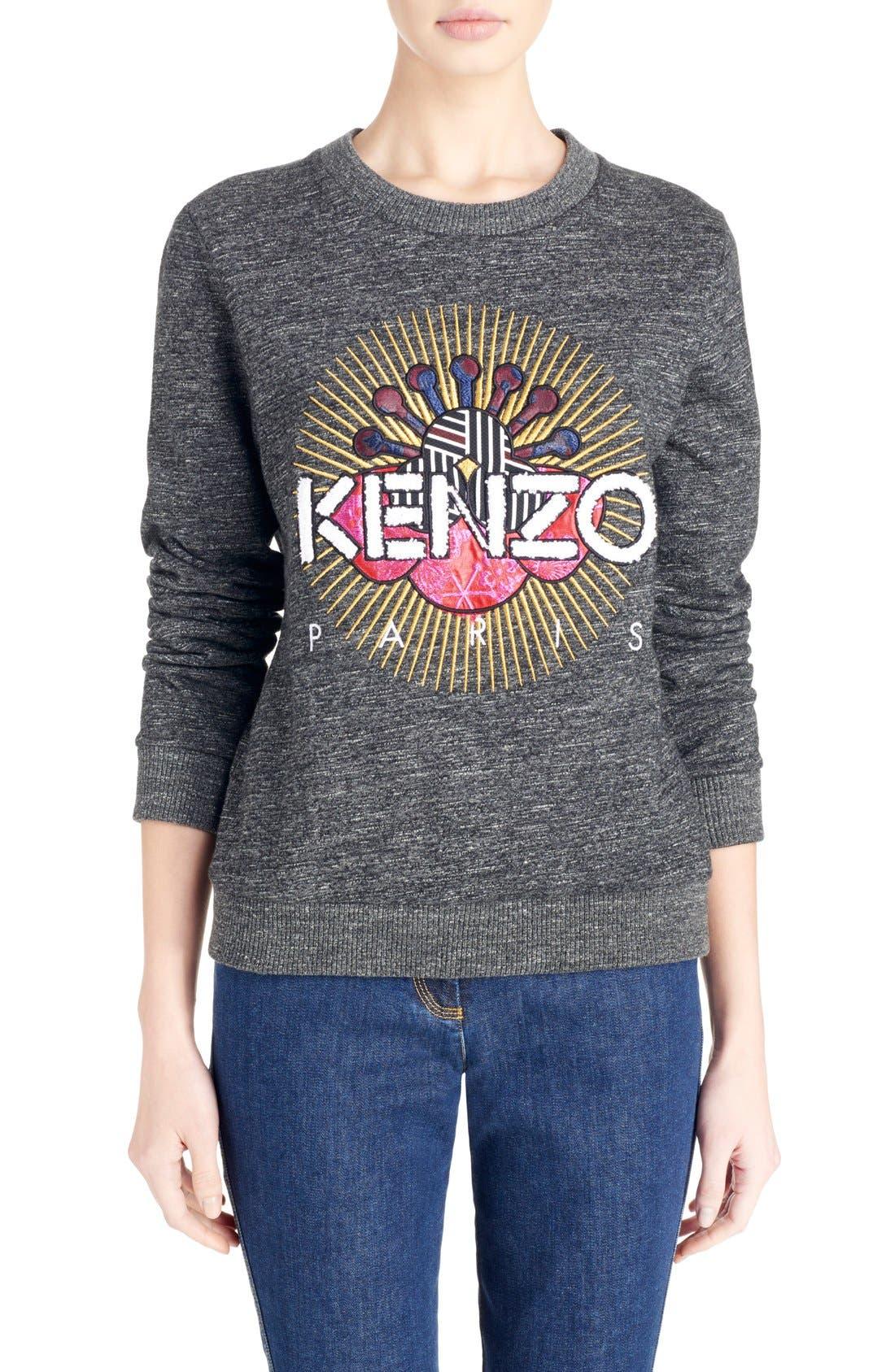 Alternate Image 1 Selected - KENZO Graphic Molleton Sweatshirt