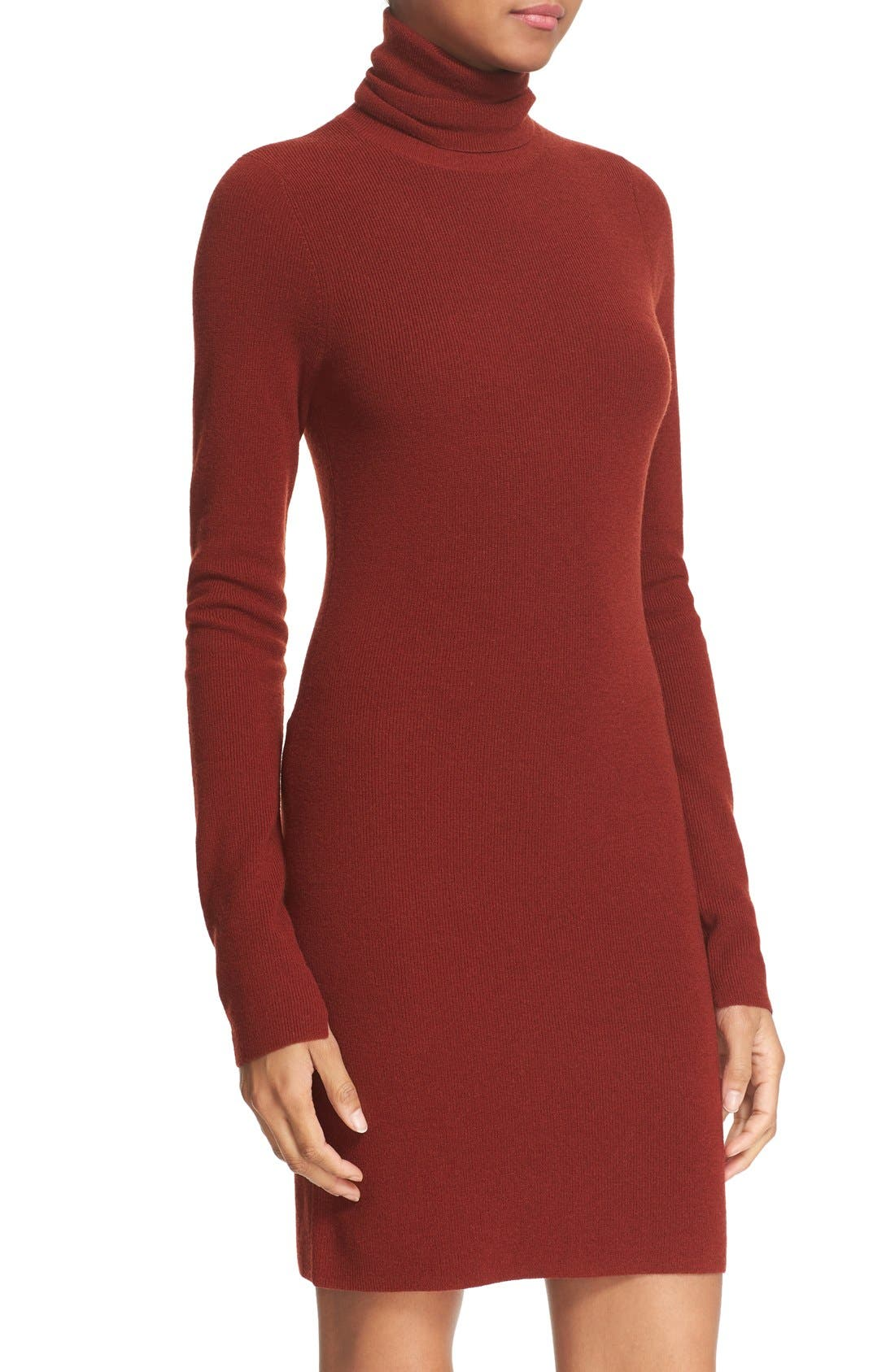 Alternate Image 4  - A.L.C. 'Norris' Merino Wool Blend Turtleneck Sweater Dress