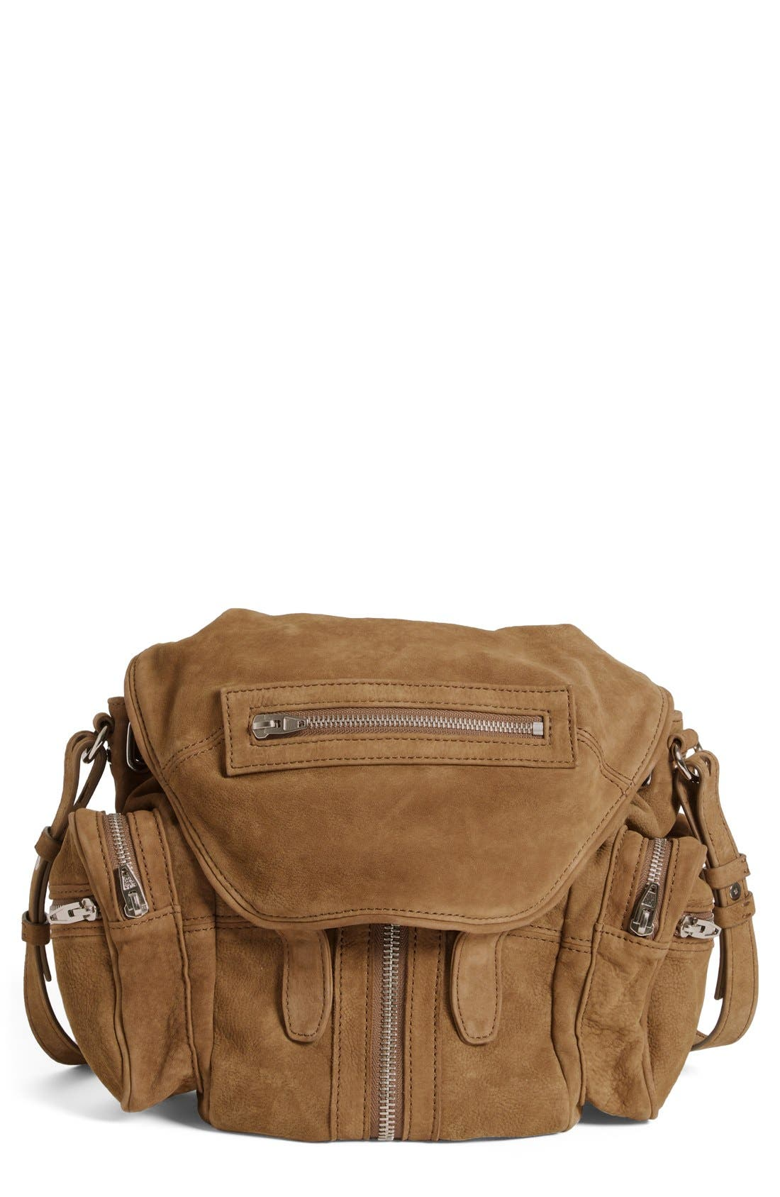 Alternate Image 1 Selected - Alexander Wang 'Mini Marti' Nubuck Leather Backpack
