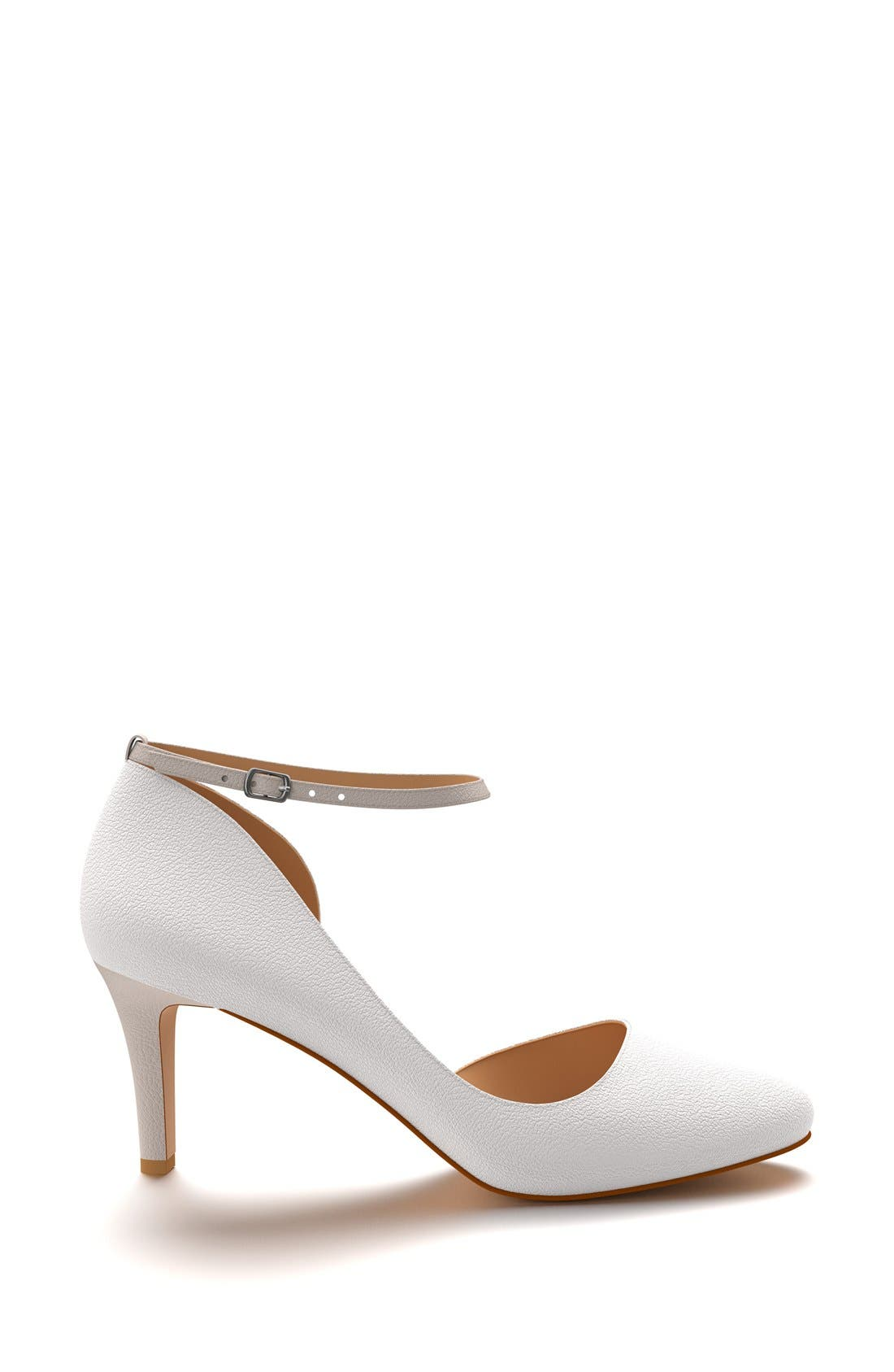 Alternate Image 4  - Shoes of Prey Half d'Orsay Ankle Strap Pump (Women)