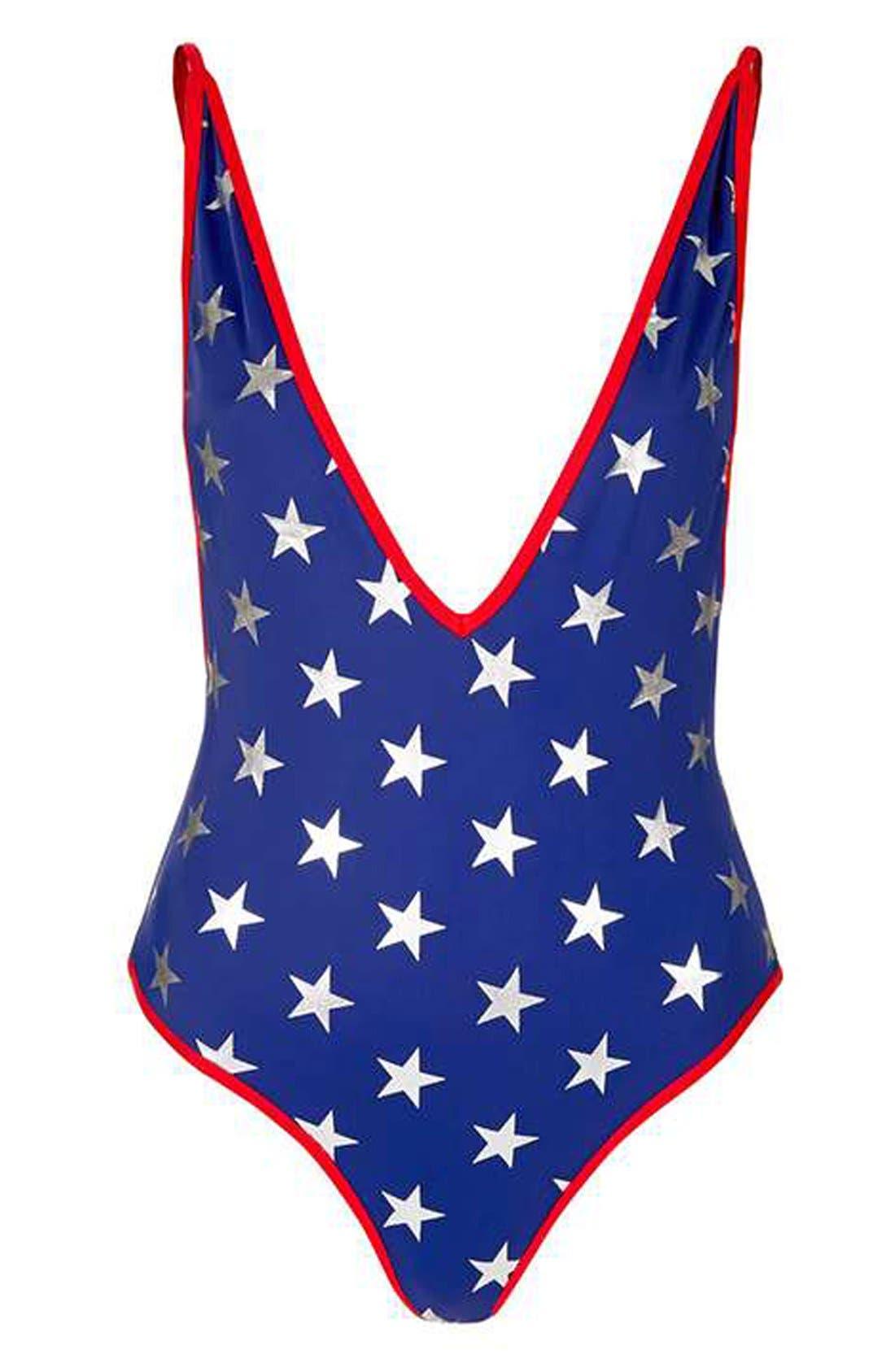 Alternate Image 3  - Topshop Star Print One-Piece Swimsuit