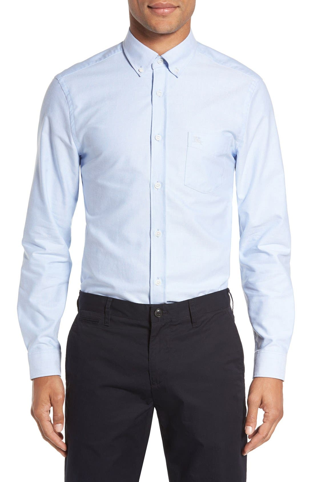 Main Image - Burberry 'Reagan' Extra Trim Fit Solid Cotton Sport Shirt