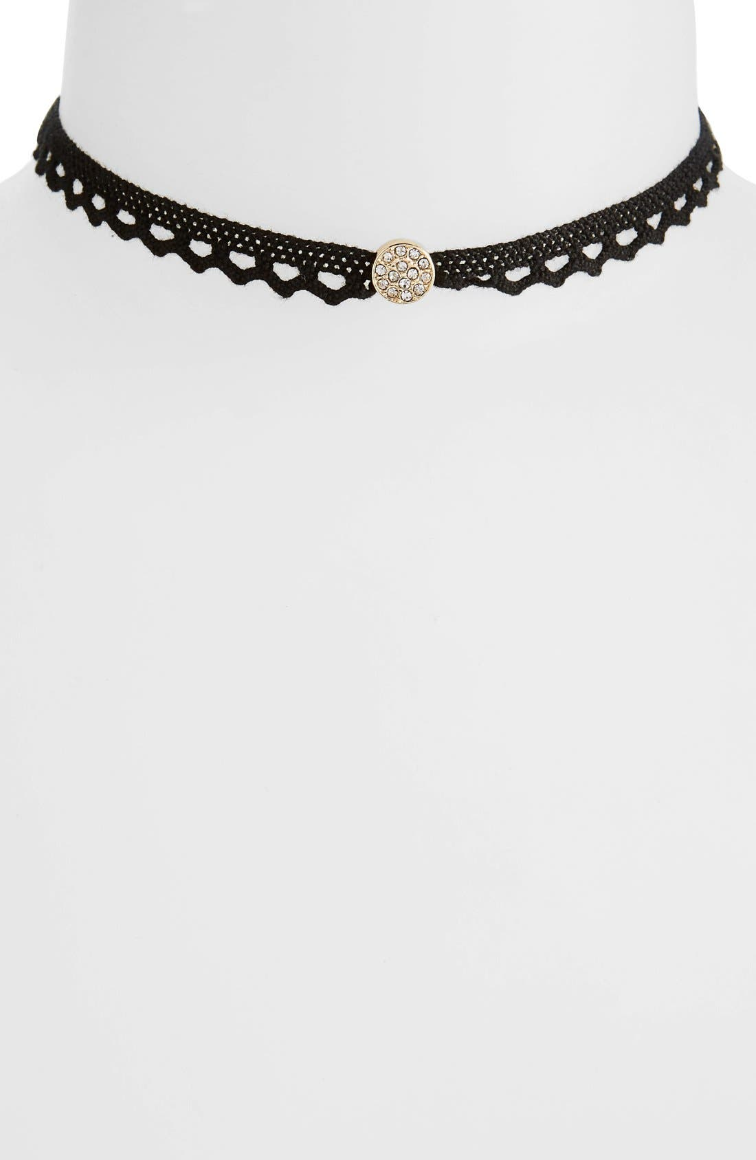 Alternate Image 1 Selected - Shinhwa Stone Charm Stretch Choker