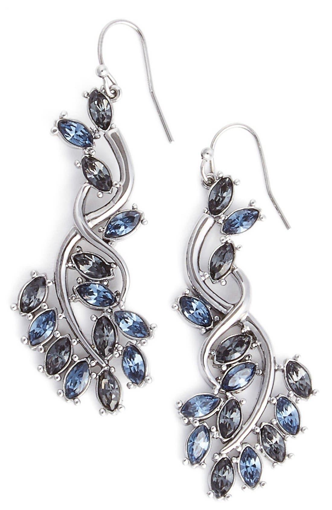 Main Image - St. John Collection 'Garden' Swarovski Crystal Drop Earrings
