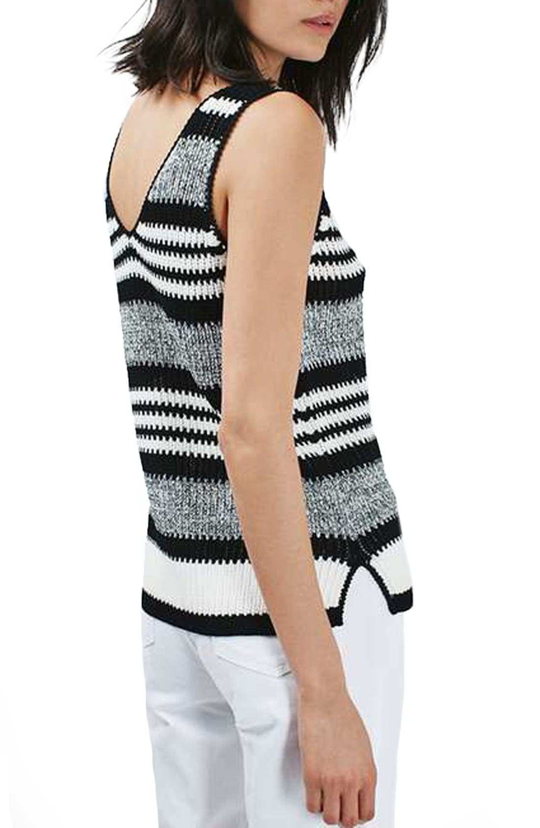 Alternate Image 3  - Topshop Monochrome Stripe Sweater Vest